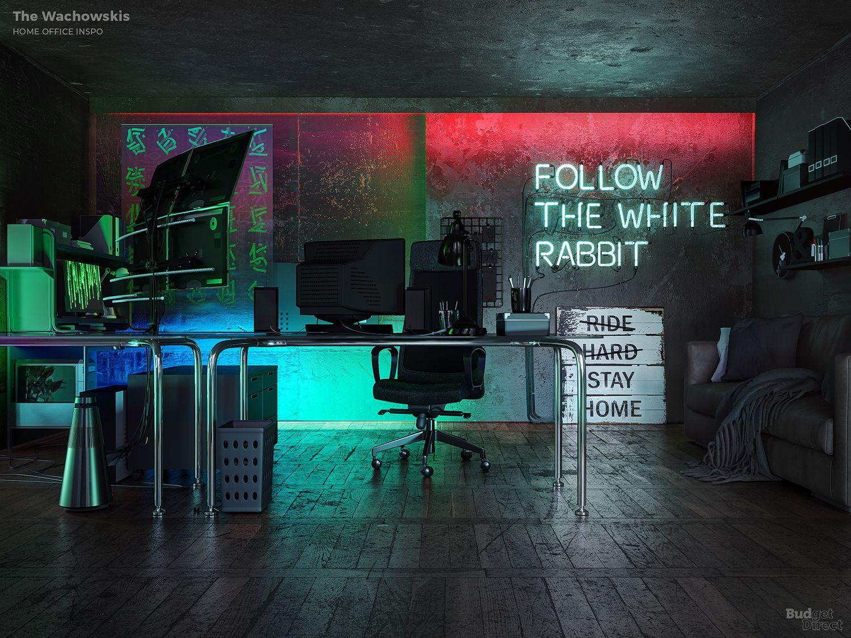 """Μεταλλικό γραφείο εμπνευσμένο από την ταινία """"Matrix"""" The Wachowskis"""