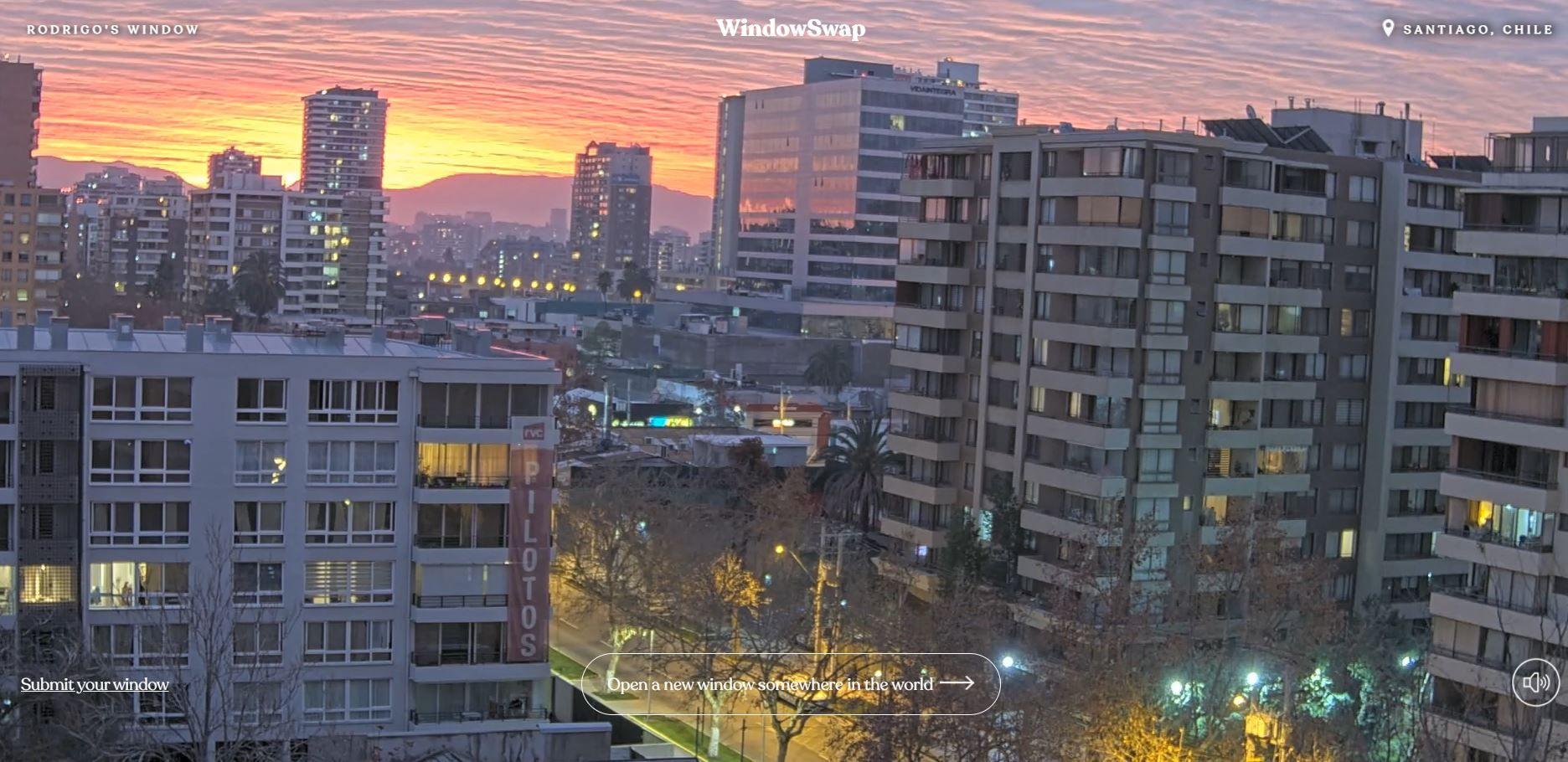 Στιγμιότυπο από παράθυρο στη Χιλή μέσω της εφαρμογής Window Swap