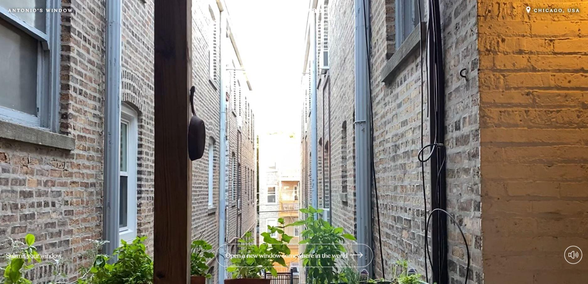 Στιγμιότυπο από παράθυρο στο Σικάγο