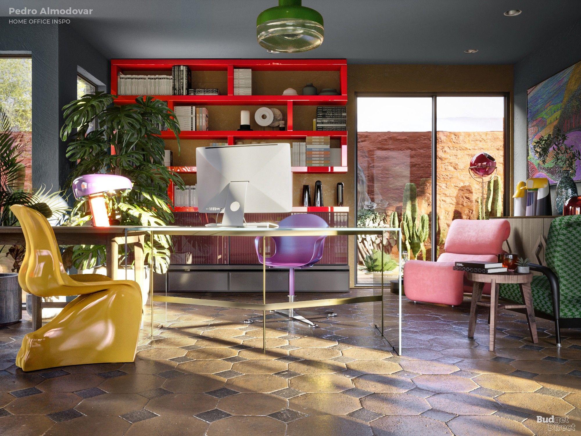 Μοντέρνο γραφείο και πολύχρωμα έπιπλα