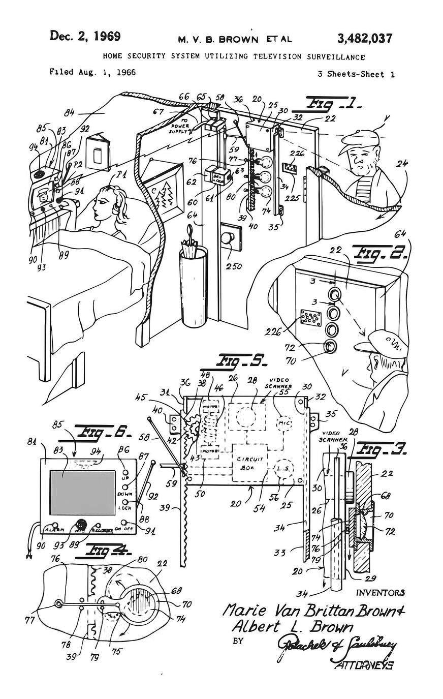 Λεπτομέρεια σχεδίου της Μαρί για το σύστημα οικιακού συναγερμού